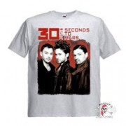 Футболка 30 Seconds To Mars Trio пепельная