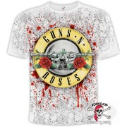 ФУТБОЛКА ТОТАЛЬНАЯ GUNS N'ROSES - BAKED ON MESS (WHITE T-SHIRT)