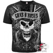 ФУТБОЛКА ТОТАЛЬНАЯ GUNS N' ROSES (SKULL) (GRAPHITE T-SHIRT)