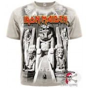 ФУТБОЛКА ТОТАЛЬНАЯ IRON MAIDEN - POWERSLAVE (KHAKI T-SHIRT)