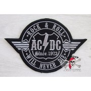 НАШИВКА AC/DC - ROCK & ROLL WILL NEVER DIE