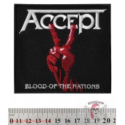 НАШИВКА ACCEPT - BLOOD OF THE NATIONS