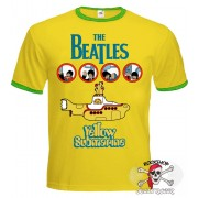 ФУТБОЛКА-РИНГЕР THE BEATLES - YELLOW SUBMARINE