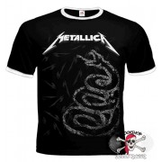ФУТБОЛКА-РИНГЕР METALLICA - BLACK ALBUM