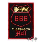 Нашивка вышитая 666 Highway