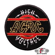 Нашивка вышитая AC-DC - High Voltage