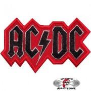 Нашивка вышитая AC-DC вырезанная