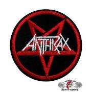 Нашивка вышитая Anthrax пентаграмма