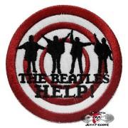 Нашивка вышитая Beatles круглая