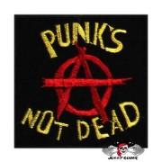 Нашивка вышитая Punks Not Dead А