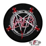 Нашивка вышитая Slayer круглая