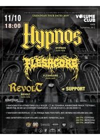 HYPNOS (CZ), FLESHGORE, REVOLT + SUPPORT