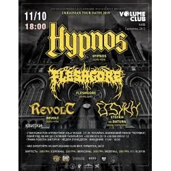БИЛЕТ НА Hypnos (Cz), Fleshgore, Revolt, Etsykh + support. Киев. 11.10.2019
